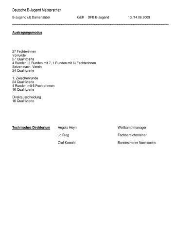Deutsche B-Jugend Meisterschaft