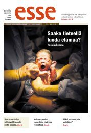Esse 22/2011 (pdf) - Espoon seurakuntasanomat