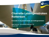 Charette leidingenstroken Rotterdam / Sjaak Verburg ... - Grontmij
