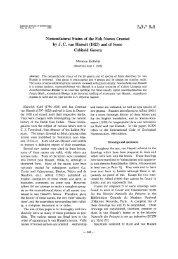 Nomenclatural status of the fish names created by J. C. van Hasselt ...