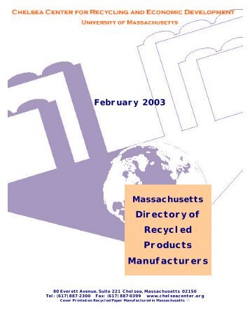 Directory of Recycled Products Manufacturers - Chelsea Center for ...