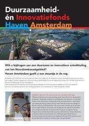 Duurzaamheid- én Innovatiefonds Haven Amsterdam (DIHA)