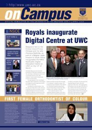 On Campus 2 April Repro.p65 - University of the Western Cape