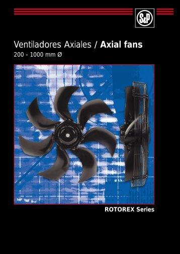 Ventiladores Axiales / Axial fans - Soler & Palau