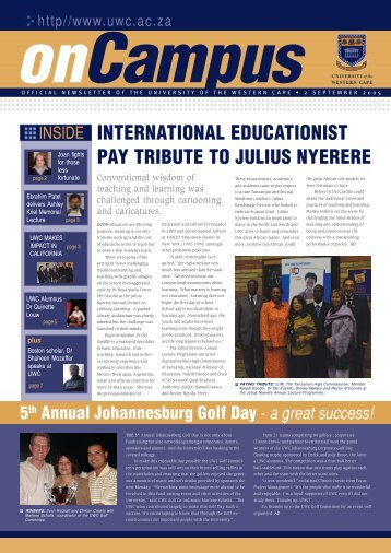 On Campus 2 SEPT REPRO.p65 - University of the Western Cape