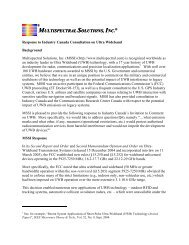 multispectral solutions, inc. - Industrie Canada