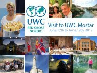 Visit to UWC Mostar - Red Cross Nordic United World College