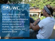 UWC schools, colleges and programmes deliver a challenging and ...