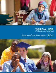 Report of the President : 2011 - UWC-USA
