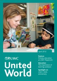 April 2012 Feature Primary education at UWC Maastricht Education ...