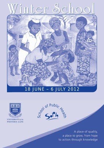 Winter School 2012 - University of the Western Cape