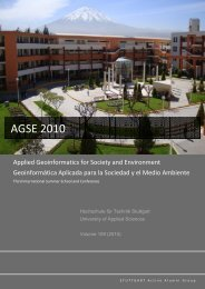 AGSE 2010 - Applied Geoinformatics for Society and Environment