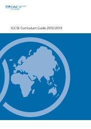 IGCSE Curriculum Guide 2012/2013 - United World College of ...