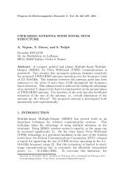 UWB-MIMO ANTENNA WITH NOVEL STUB STRUCTURE A ... - PIER