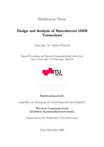 Uwb phd thesis