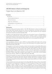 UWC-IBO Initiative in Bosnia and Herzegovina Progress Report ...