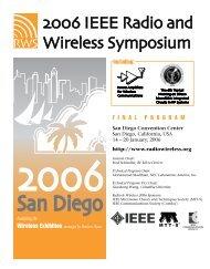 Final Program - 2012 IEEE Radio and Wireless Symposium