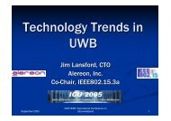 Technology Trends in UWB