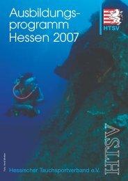 Ausbildungs- programm Hessen 2007 - Hessischer ...