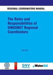 The Roles and Responsibilities of UWASNET Regional Coordinators