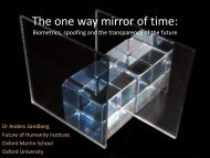 The one way mirror of time: