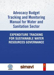 Advocacy Budget Tracking and Monitoring Manual for ... - UWASNET