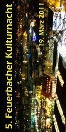 Offizielles Programm zur 5. Feuerbacher Kulturnacht