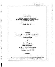 final report usaidisri lanka private sector development program