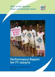 Performance Report for FY 2009/10 - UWASNET