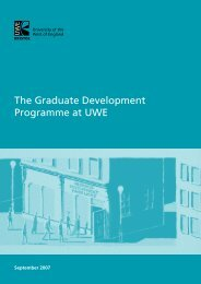 The Graduate Development Programme at UWE