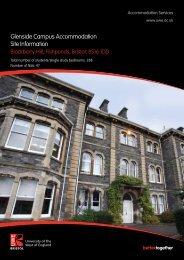 Glenside Campus Accommodation Site Information