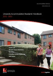 Residents handbook - University of the West of England