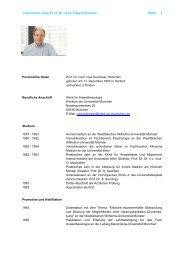 Curriculum vitae Prof. Dr. med. Uwe Kreimeier Seite 1