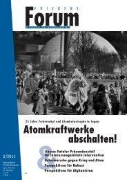 Das FriedensForum zu AKWs (PDF) - Netzwerk Friedenskooperative