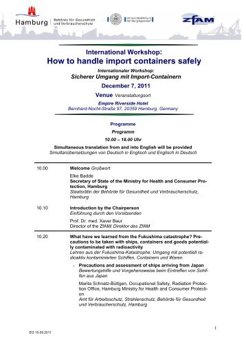How to handle import containers safely - TGAV