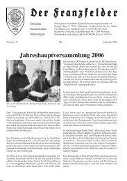 Jahreshauptversammlung 2006 - Die Franzfelder