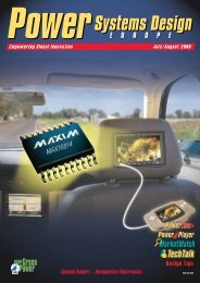 Special Report – Automotive Electronics - Power Systems Design