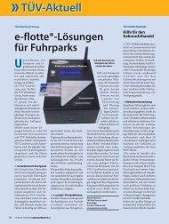 e-flotte®-Lösungen für Fuhrparks Unternehmen - TÜV Süd