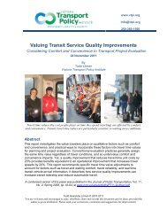 Valuing Transit Service Quality Improvements - Victoria Transport ...