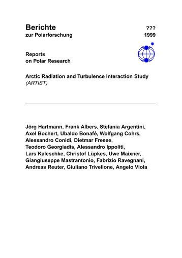 Berichte ??? zur Polarforschung 1999 Reports on Polar ... - AWI