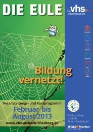 Programm - Volkshochschule Landkreis Aichach-Friedberg e.V.