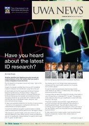 UWA NEWS - UWA Staff - The University of Western Australia