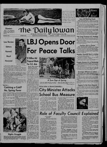 April 8 - The Daily Iowan Historic Newspapers - University of Iowa