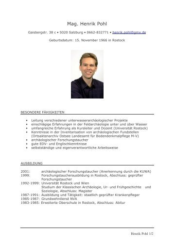 lebenslauf hpohl graz uwa pro - Lebenslauf Abitur