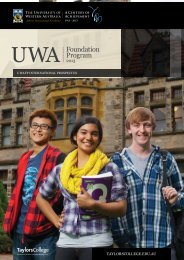 Download the 2013 UWAFP brochure - Taylors College
