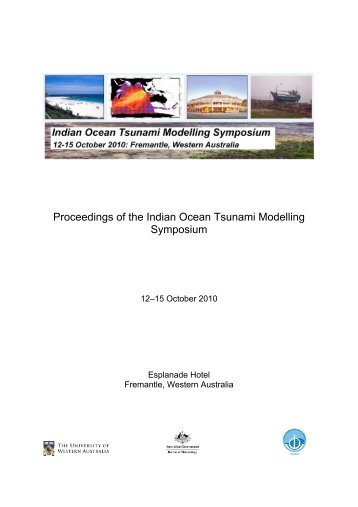 Proceedings of the Indian Ocean Tsunami Modelling Symposium