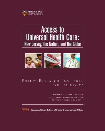 access to universal health care: - Woodrow Wilson School of Public ...
