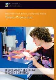 biochemistry, molecular biology & genetics - The University of ...