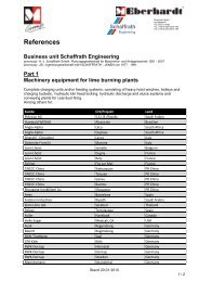 References Business unit Schaffrath Engineering