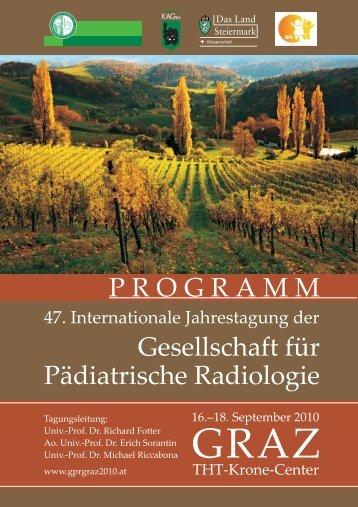 Programmheft (PDF) - 47. Internat. Jahrestagung der Gesellschaft ...